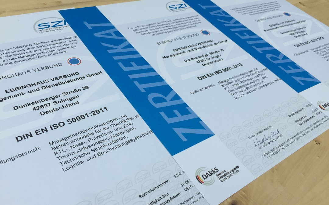 Aktuelle Zertifizierungen